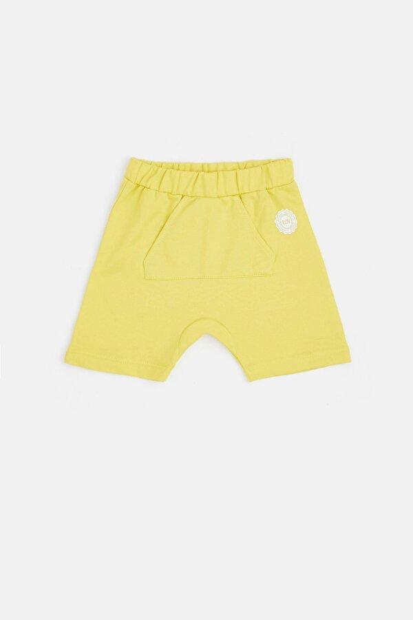 Resim Erkek Bebek Sarı Şort