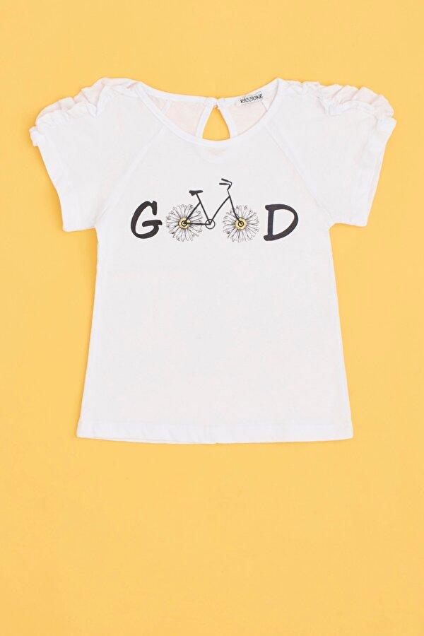 Resim Kız Bebek Beyaz T-Shirt
