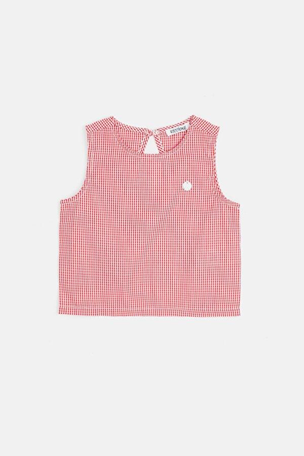 Resim Kız Bebek Ekose Bluz