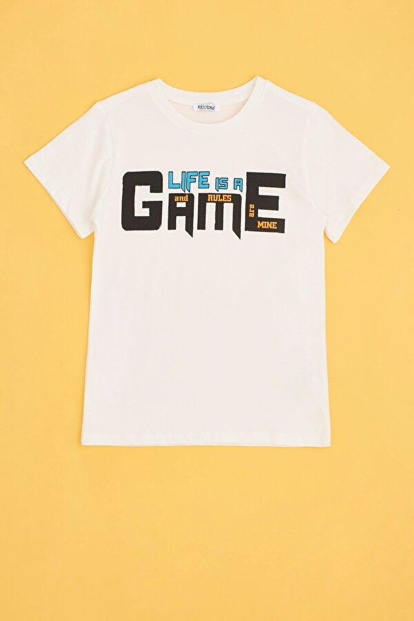 Resim Erkek Çocuk Gri Melanj T-Shirt
