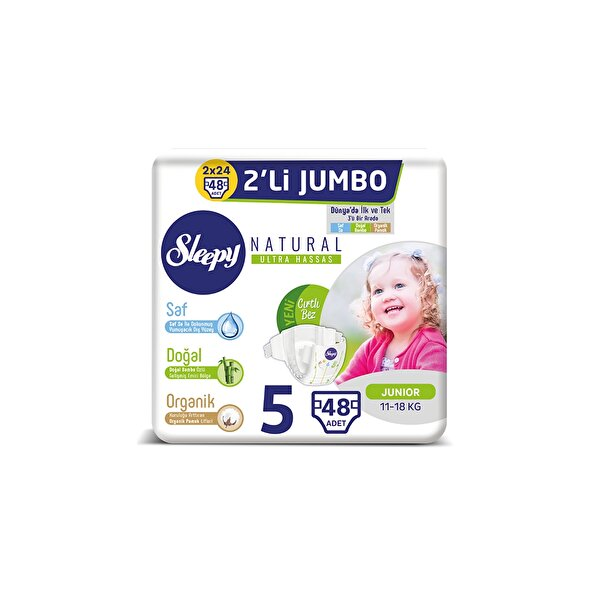 Resim SLEEPY 2LI JUMBO NO:5 JUNIOR 48LI 11-18 KG - 8681212062578