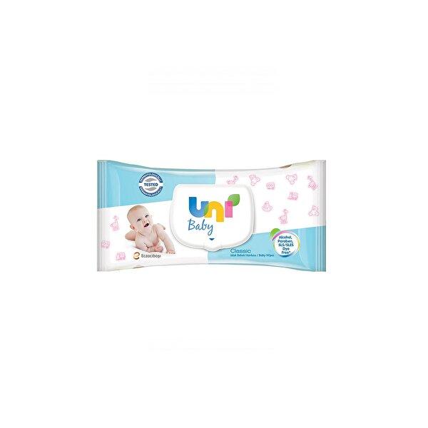 Resim UNI BABY CLASIK ISLAK HAVLU 56LI - 8692190009417