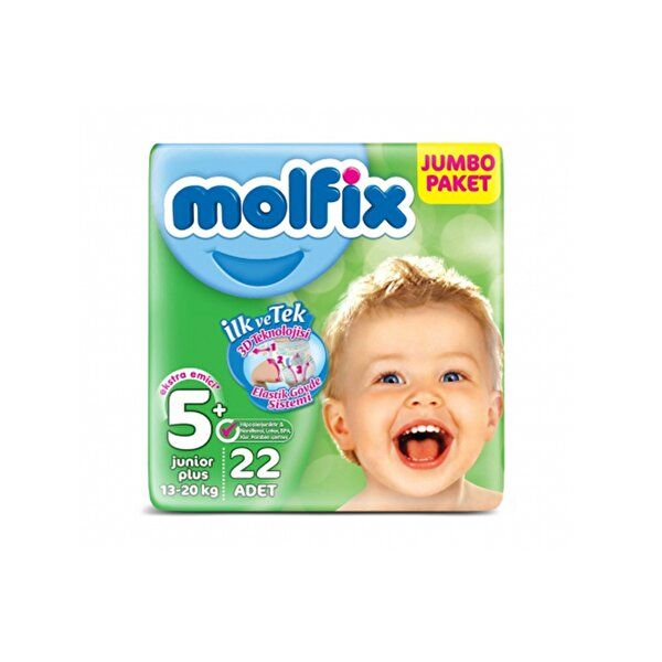 Resim MOLFIX JUMBO JUNIOR PLUS NO:5+ 22 LI - 8690536806232