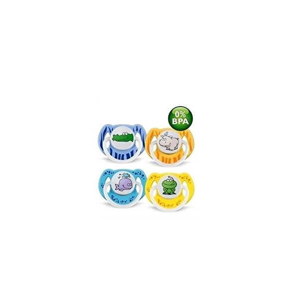 Resim Avent 0% BPA Yalanci Emzik 0-6 ay Desenli 2.li - 8710103543343