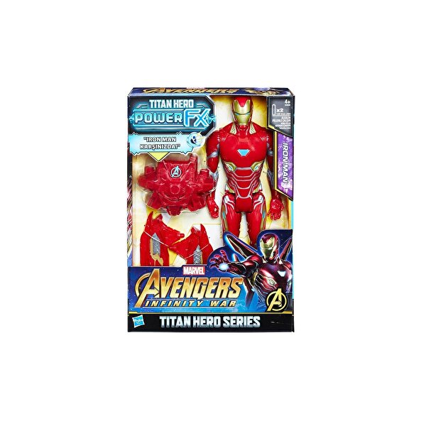 Resim HASBRO AVENGERS:IW TITAN HERO POWER FX IRON MAN - 5010993499229