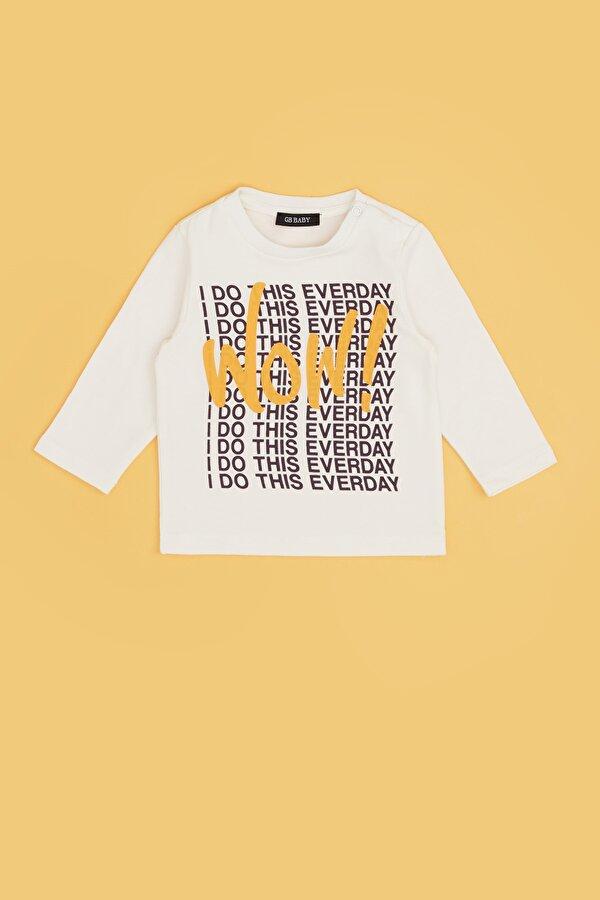 Resim Erkek Bebek Ekru T-Shirt