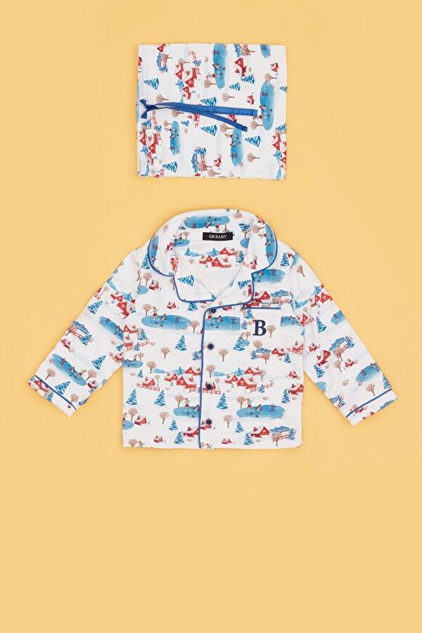 Resim Erkek Bebek Desenli Pijama Takımı