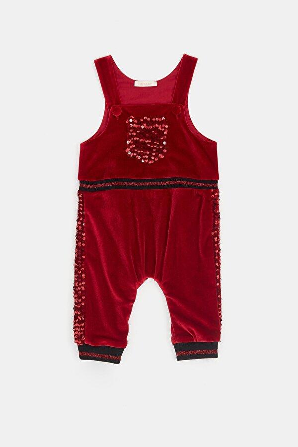 Resim Kız Bebek Kırmızı Salopet