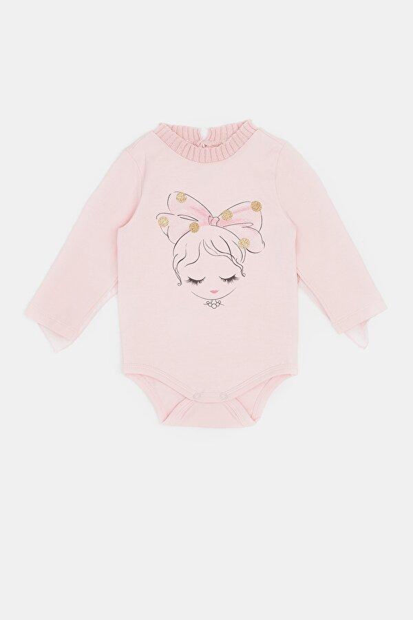 Resim Kız Bebek Pembe Body