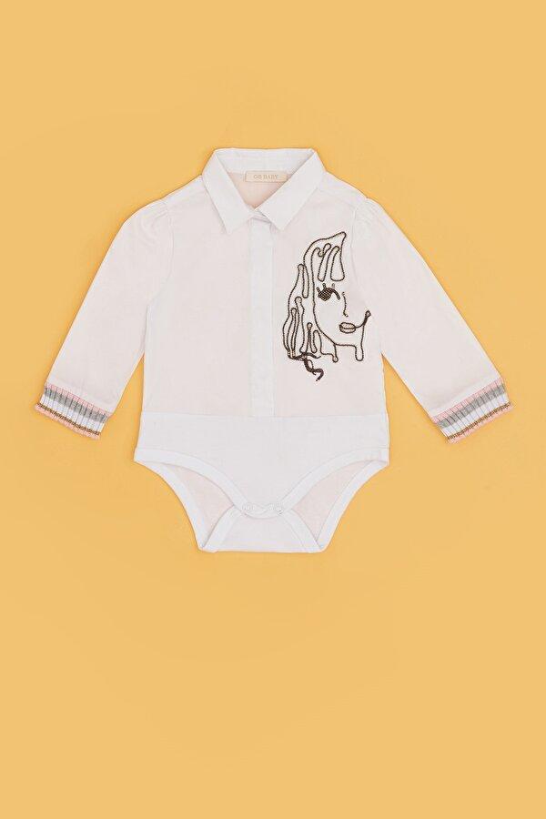 Resim Kız Bebek Beyaz Gömlek