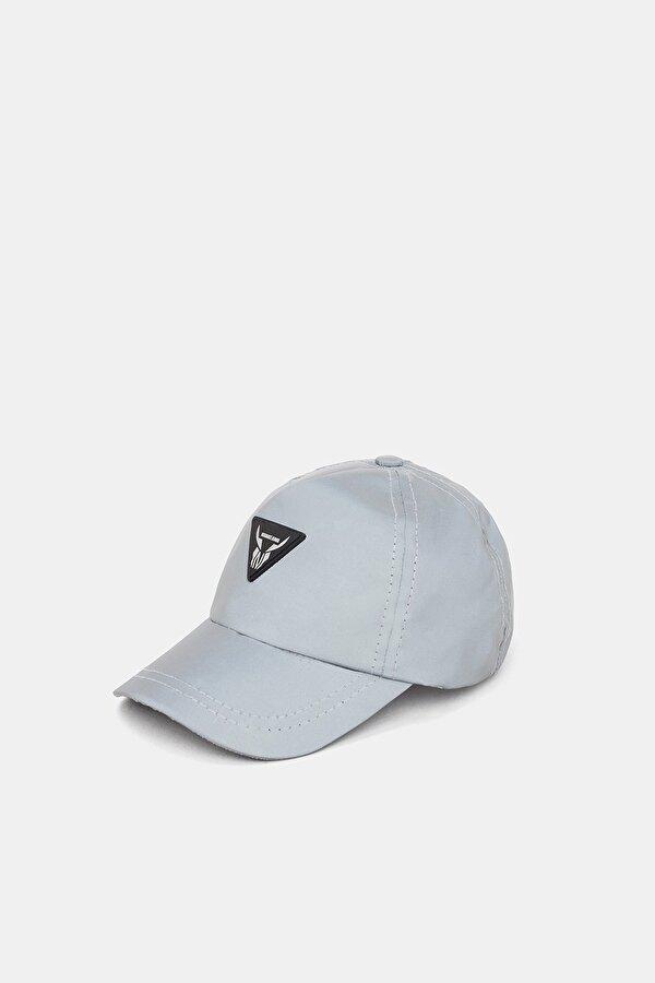 Resim Erkek Çocuk Gri Melanj Şapka