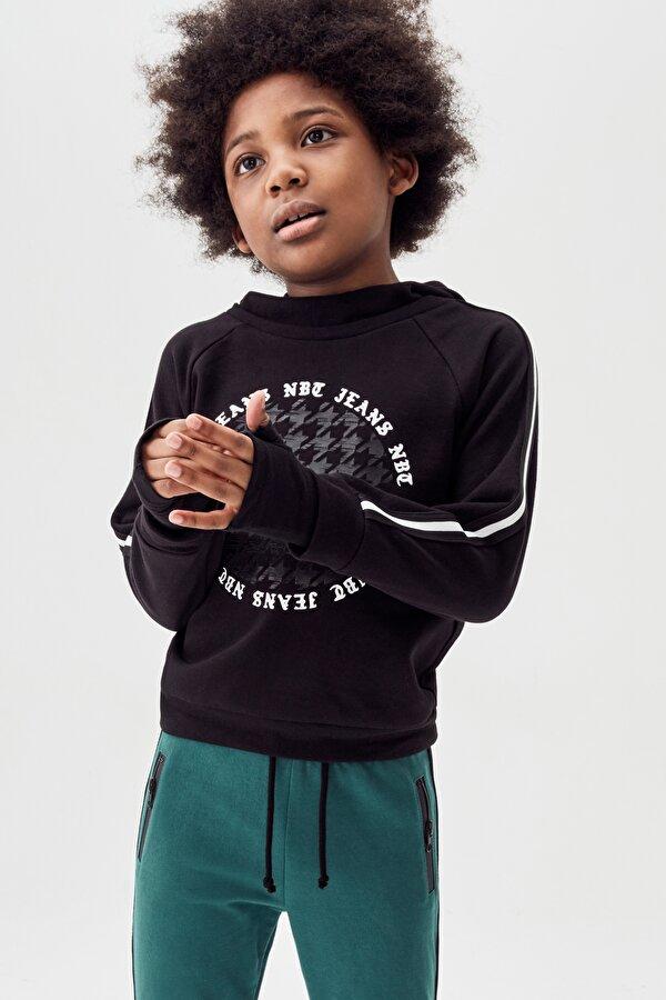 Resim Erkek Çocuk Siyah S-Shirt