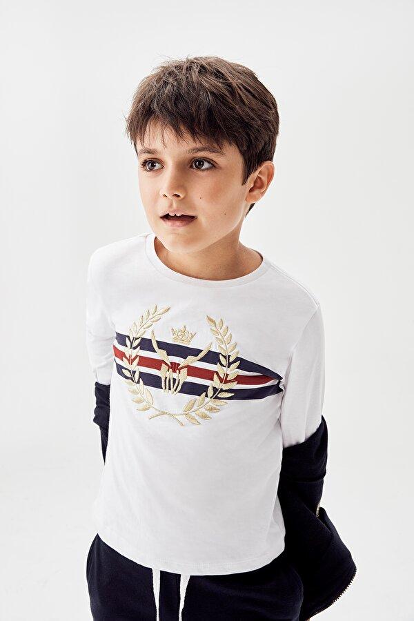 Resim Erkek Çocuk Beyaz T-Shirt