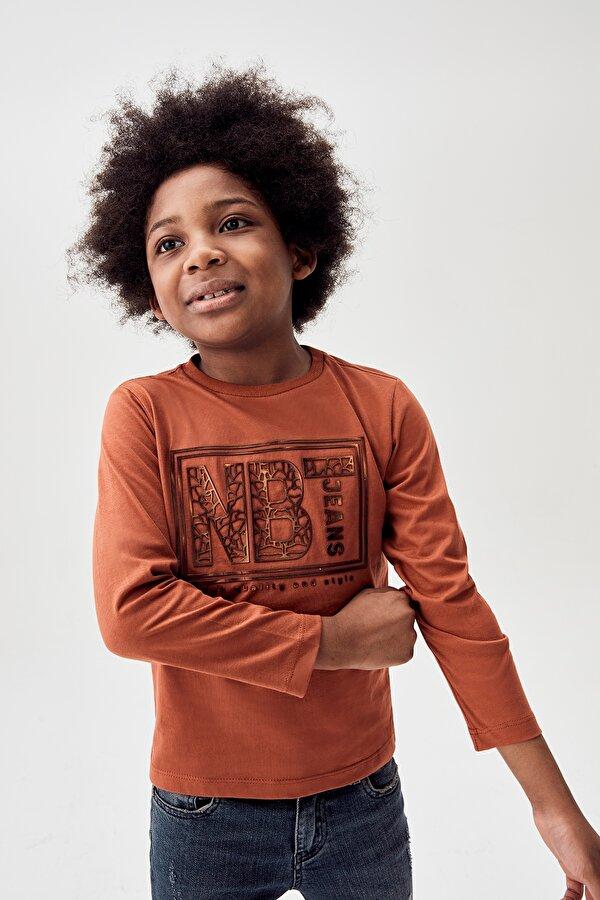 Resim Erkek Çocuk Kiremit T-Shirt