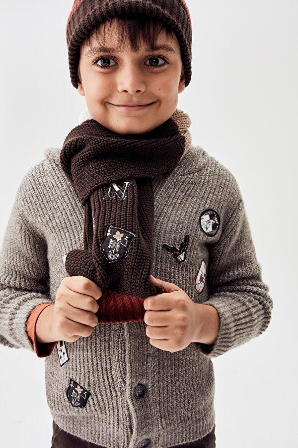 Resim Erkek Çocuk Kahve Hırka