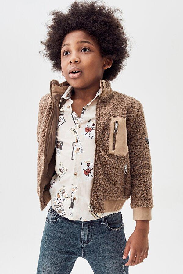Resim Erkek Çocuk Kahve Ceket