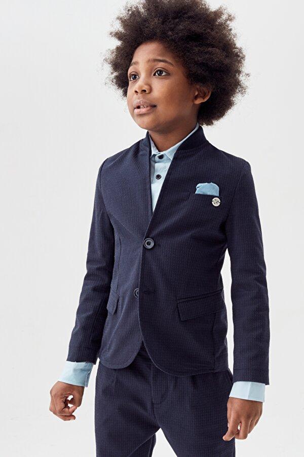 Resim Erkek Çocuk Lacivert Ceket