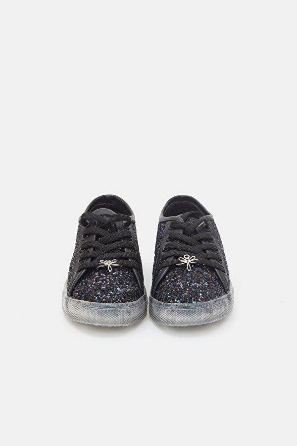 Resim Kız Çocuk Simli Ayakkabı
