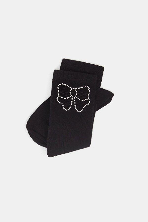 Resim Kız Çocuk Siyah Soket Çorap