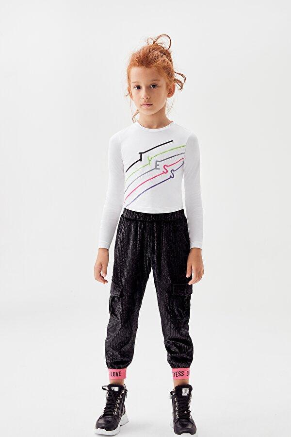Resim Kız Çocuk Siyah Eşofman Altı