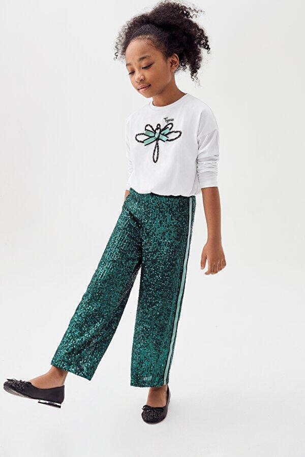 Resim Kız Çocuk Yeşil Pantolon