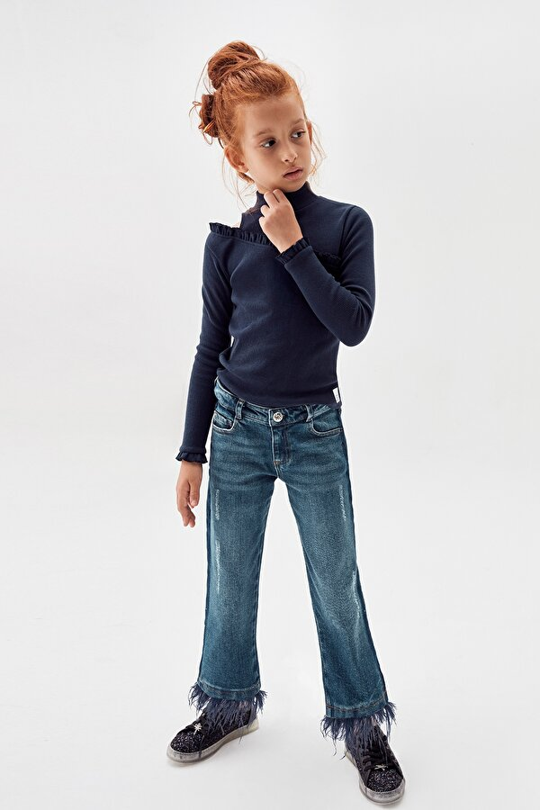 Resim Kız Çocuk Jean Pantolon