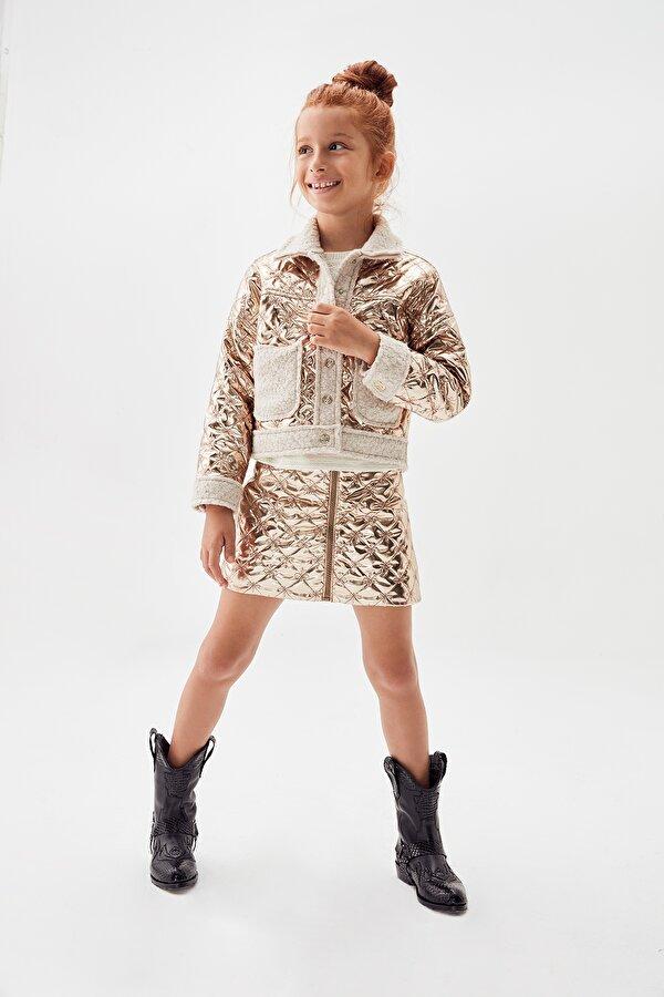 Resim Kız Çocuk Bronz Etek