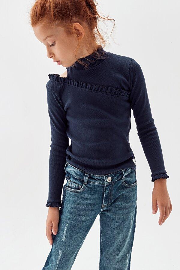 Resim Kız Çocuk Lacivert T-Shirt