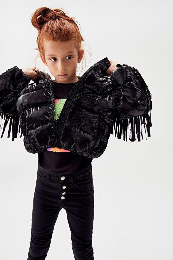 Resim Kız Çocuk Siyah Mont