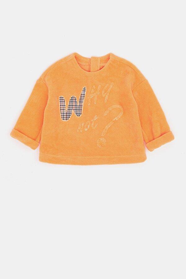 Resim Kız Bebek Neon Oranj S-Shirt