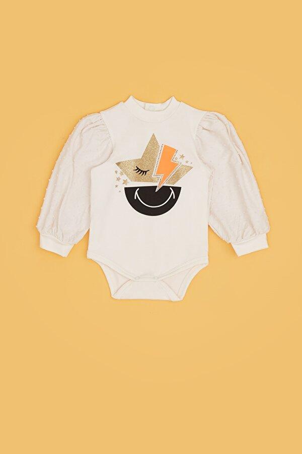 Resim Kız Bebek Ekru Body