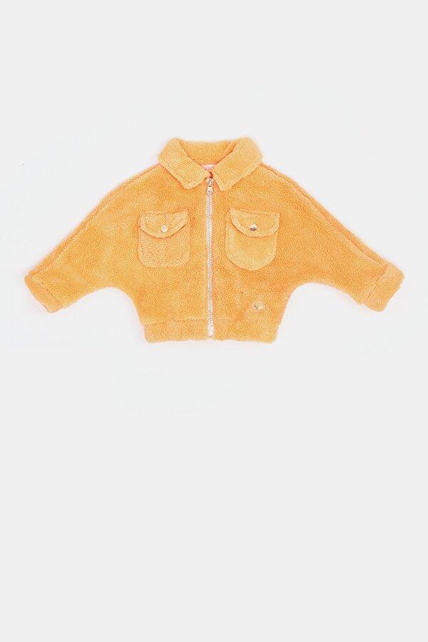 Resim Kız Bebek Neon Oranj Ceket