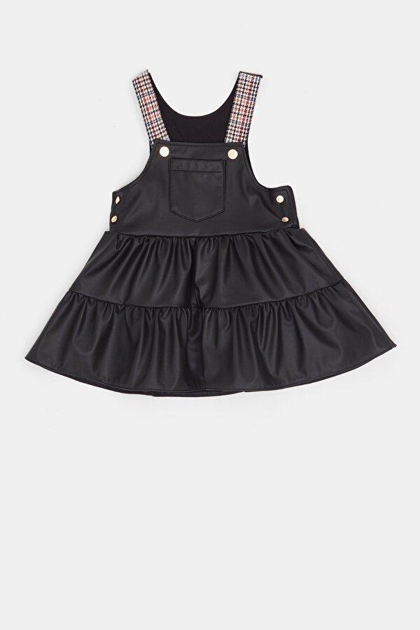 Resim Kız Bebek Siyah Salopet