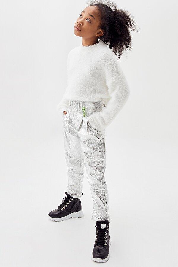 Resim Kız Çocuk Gümüş Pantolon