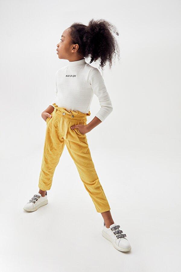 Resim Kız Çocuk Hardal Pantolon