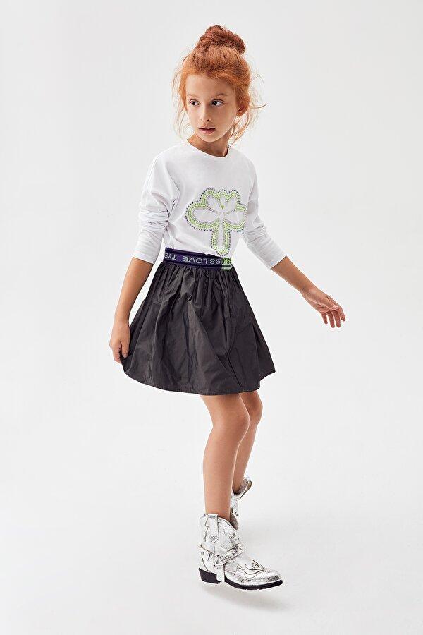 Resim Kız Çocuk Antrasit Etek