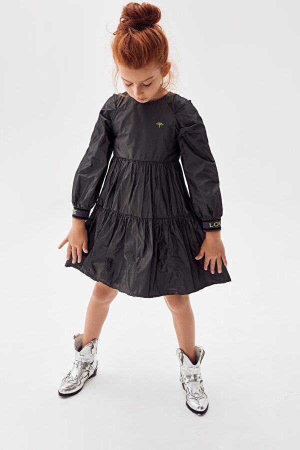 Resim Kız Çocuk Antrasit Elbise