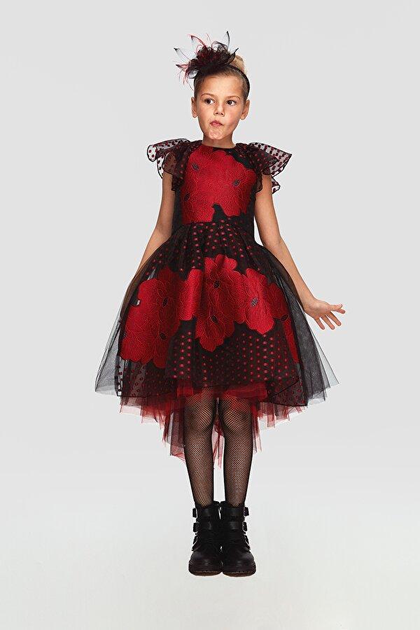 Resim Kız Çocuk Kırmızı Elbise