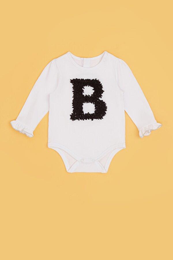 Resim Kız Bebek Beyaz Body
