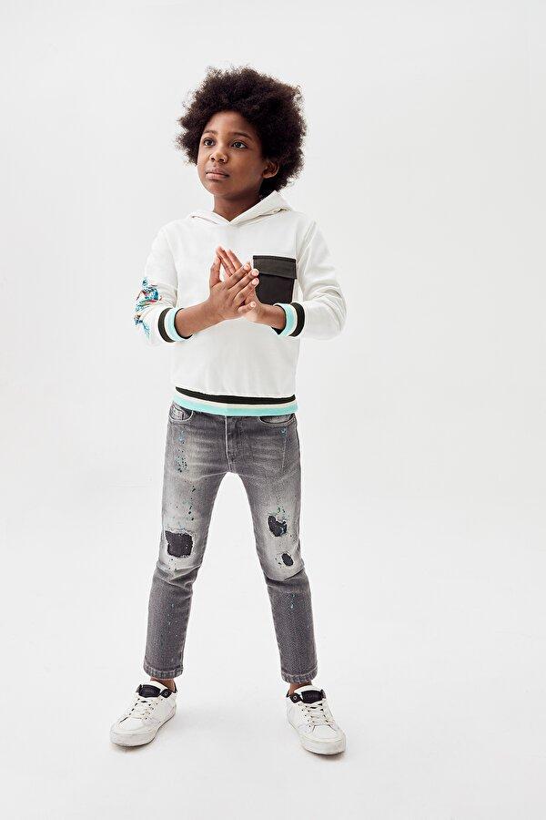 Resim Erkek Çocuk Ekru S-Shirt