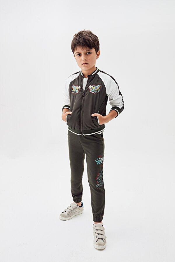 Resim Erkek Çocuk Desenli Bomber Ceket