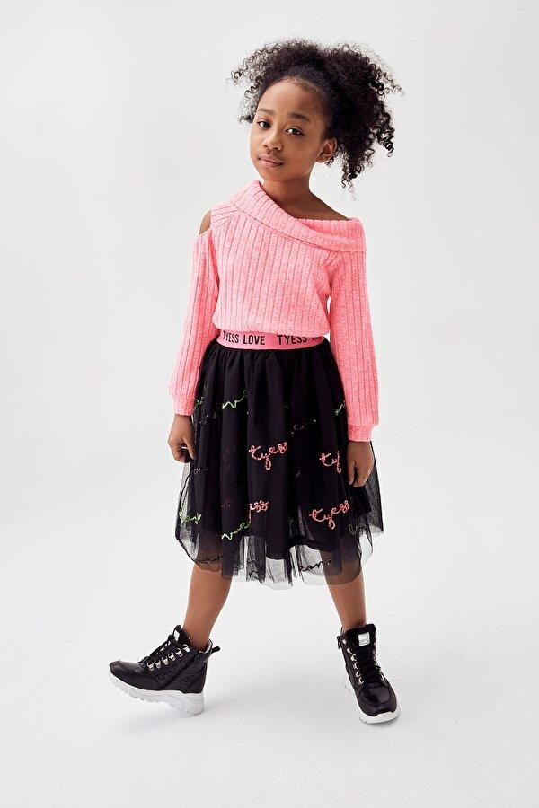 Resim Kız Çocuk Siyah Etek