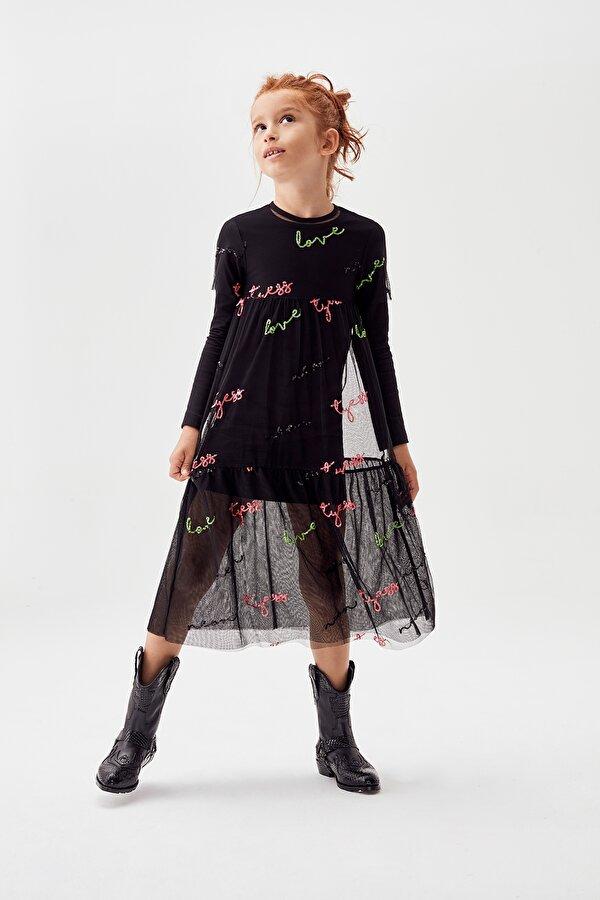 Resim Kız Çocuk Siyah Elbise