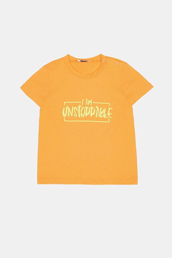 Resim Erkek Bebek Oranj T-Shirt