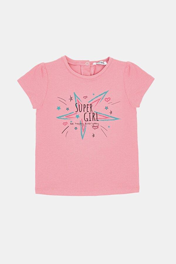 Resim Kız Bebek Pembe T-Shirt