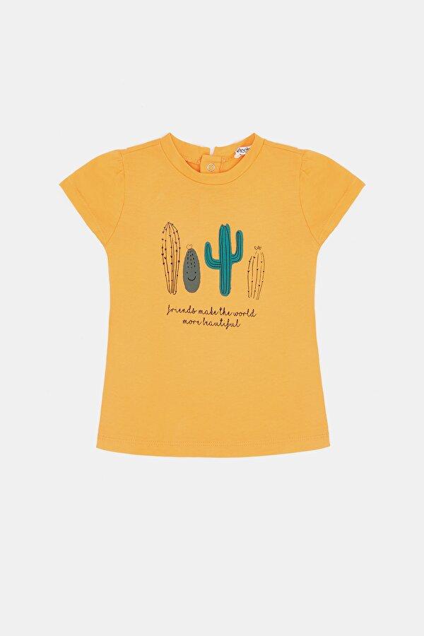Resim Kız Bebek Oranj T-Shirt