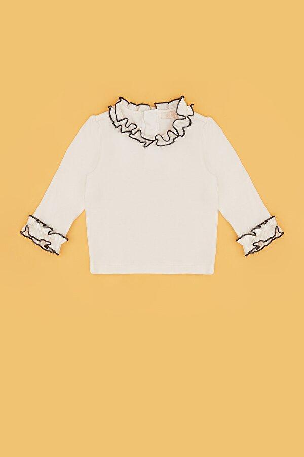 Resim Kız Bebek Ekru T-Shirt