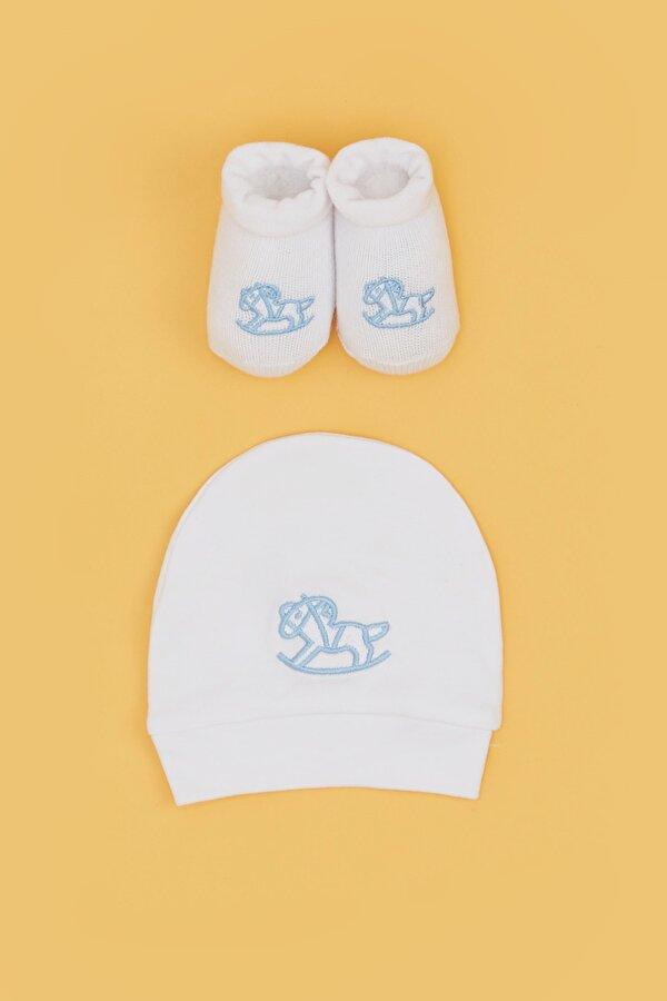 Resim Erkek Bebek Beyaz Çorap