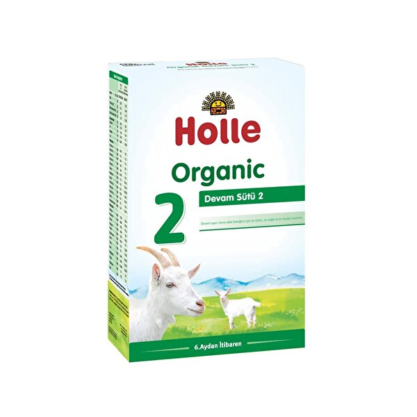 Resim Holle Organik 2 Keçi Sütü Devam Formülü 400 gr - 7640161878235
