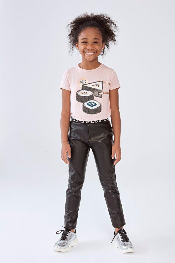 Resim Kız Çocuk Siyah Deri Tayt
